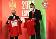 060421 King Felipe VI and Marcelo Rebelo de Sousa attends friendly match betwen Spain and Portugal