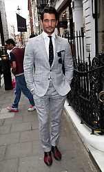 Image licensed to i-Images Picture Agency. 16/06/2014. David Gandy arriving for the launch of a Gregory Peck exhibition at  Huntsman tailors in Savile Row, London, to celebrate five decades of dressing the Hollywood actor. Picture by Stephen Lock / i-Images