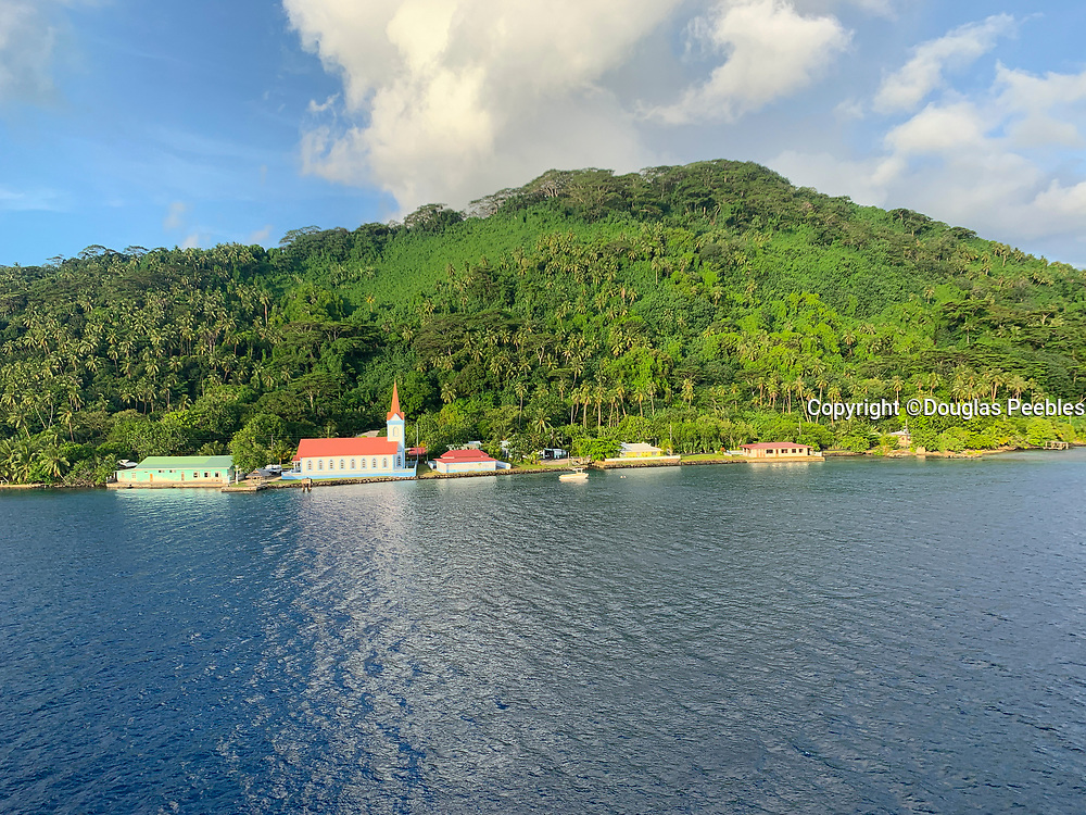 Church in Tiva, Tahaa,  Society Islands, French Polynesia; South Pacific