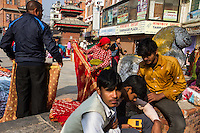 Maru, the market area near Kathmandu Durbar Square, thrives with business as tourists have returned to the historical sites. The country is heavily dependent on arrivals from India, China, the United States, and Europe for access to foreign exchange.