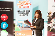 Repro free:  No Alcoholic Substances Allowed!<br />  <br /> Christina Hegarty, snr safety officer RSA.<br /> <br /> This is the message and purpose of the NASA Bus Safety Initiative, which was launched in County Galway last Friday, the 8th of September in Coláiste Bhaile Chláir, Claregalway.<br /> Underage drinking, both before, and on the way to, junior discos and events, has become an increasing problem for parents, for bus operators, for An Garda Síochána and other public bodies such as our paramedic, ambulance and hospital services.<br /> On many occasions in recent years, we have seen undesirable outcomes and scenarios when young people have placed themselves and others at personal risk due to alcohol consumption. <br /> To try to alleviate this problem, and in response to the growing concern amongst professionals, parents and even young people themselves, the NASA (No Alcoholic Substances Allowed) Bus Safety Initiative has been developed. Its aim is to highlight and promote young people's safety when using private hire buses for travelling to and from events. <br /> The NASA Bus Safety Initiative has been developed by an inter-agency group consisting of representatives from the HSE, An Garda Síochána, the WRDATF (Western Region Drugs Alcohol Taskforce) and the Road Safety Authority (RSA)  Photo:Andrew Downes, xposure