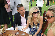 Hugo Taylor, Mags Denman and Melissa Mills. Cartier International Polo. Guards Polo Club. Windsor Great Park. 29 July 2007.  -DO NOT ARCHIVE-© Copyright Photograph by Dafydd Jones. 248 Clapham Rd. London SW9 0PZ. Tel 0207 820 0771. www.dafjones.com.
