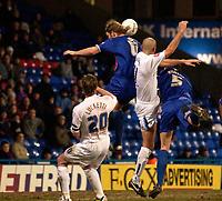 Photo: Daniel Hambury.<br />Crystal Palace v Preston North End. The FA Cup. 07/02/2006.<br />Preston's Daniel Dichio (middle) score to make it 1-1.