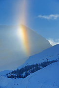 Partial halo at Athabasca Glacier. in the Canadian Rocky Mountains , Jasper National Park, Alberta, Canada