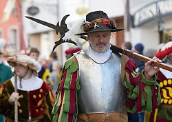 02.04.2018, Traunstein, GER, Georgi Ritt Traunstein 2018, im Bild Landsknecht // during the traditionell Georgi Ritt on Easter Monday in. in Traunstein, Germany on 2018/04/02. EXPA Pictures © 2018, PhotoCredit: EXPA/ Erst Wukits