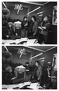 U2 - Adam, Bono, The Edge and Larry at a Jukebox store in Atlanta - USA tour photosessions December 1981
