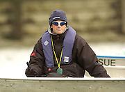 Putney, London, ENGLAND, 30.03.2006, Cambridge Coach, Tim MacLaren, 2006, Boat Race, Varsity, Tideway Week, Thursday,  © Peter Spurrier/Intersport-images.com, [Mandatory Credit Peter Spurrier/ Intersport Images] Varsity, Boat race. Rowing Course: River Thames, Championship course, Putney to Mortlake 4.25 Miles