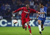Fotball<br /> Champions League 2004/05<br /> Porto v Paris Saint Germain<br /> 2. november 2004<br /> Foto: Digitalsport<br /> NORWAY ONLY<br /> FABRICE PANCRATE (PSG) / JOSE BOSINGWA (POR)