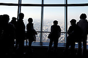 Skytree Tower people looking out over Tokyo from Tembo deck