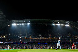 General view as circa 8000 Bristol City fans fill the top two tier's of the South Stand - Rogan/JMP - 09/01/2018 - Etihad Stadium - Manchester, England - Manchester City v Bristol City - Carabao Cup Semi Final First Leg.