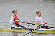 Hazewinkel, BELGIUM,  Women's pair. GBR W2-. bow [left], Olivia WHITLAM and Louisa REEVE,  British Rowing Senior Trails, Bloso Rowing Centre. Sunday,  11/04/2010. [Mandatory Credit. Peter Spurrier/Intersport Images]