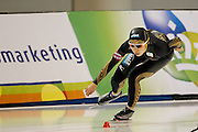 Nao Kodaira of Japan, competes in the women's 1,500-meter World Cup speedskating competition at the Utah Olympic Oval in Kearns, Utah, Saturday, Feb. 19, 2011. (AP Photo/Colin E Braley)