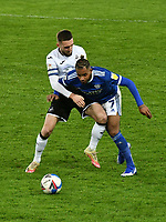 Football - 2020 / 2021 Sky Bet Championship - Swansea City vs Cardiff City - Liberty Stadium<br /> <br /> Leandro Bacuna Cardiff City  & Matt Grimes Swansea Cityin the South Wales local derby match<br /> <br /> COLORSPORT/WINSTON BYNORTH