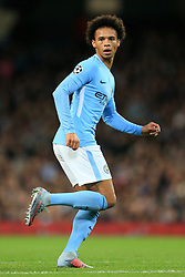 17th October 2017 - UEFA Champions League - Group F - Manchester City v Napoli - Leroy Sane of Man City - Photo: Simon Stacpoole / Offside.