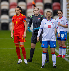 NEWPORT, WALES - Thursday, October 22, 2020: Wales' Kayleigh Green during the UEFA Women's Euro 2022 England Qualifying Round Group C match between Wales Women and Faroe Islands Women at Rodney Parade. Wales won 4-0. (Pic by David Rawcliffe/Propaganda)