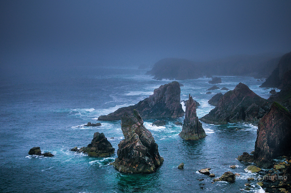 Outer Hebrides. Lewis Island: the majestick rocks of Mangersta Cliffs exposed to the Atlantic.