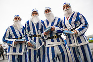 Brighton & Hove Albion staff in festive attire before the Sky Bet Championship match between Brighton and Hove Albion and Middlesbrough at the American Express Community Stadium, Brighton and Hove, England on 19 December 2015. Photo by Bennett Dean.