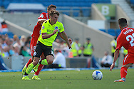 Solly March during the Pre-Season Friendly match between Brighton and Hove Albion and Sevilla at the American Express Community Stadium, Brighton and Hove, England on 2 August 2015. Photo by Bennett Dean.