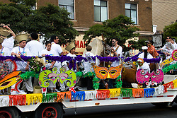 California: San Francisco Carnaval festival parade in the Mission District. Photo copyright Lee Foster. Photo # 30-casanf81319