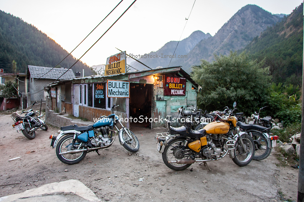 Food, lodging and supplies for tourists and backpackers Parvati River Valley,  Himachal Pradesh, India