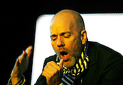 T In The Park  2008.<br /> 13/07/08<br /> <br /> Lead singer of American super group REM Michael Stipe thrills the crowd and draws this years festival to it's end, during the Third and final day of this years, T IN THE PARK  Scotland's Premier Music Festival now in it's 15th year, and still going strong since 1994. The first 3 years were held at Strathclyde Country Park, but in 1997 moved to Balado near Kinross . At This years T in the Park, Balado - By Kinross today.<br /> <br /> Picture by Mark Davison / Alex Todd & Aimee Todd/ Universal News & Sport