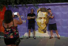 Harry Kane mural - Volgograd - 17 June 2018