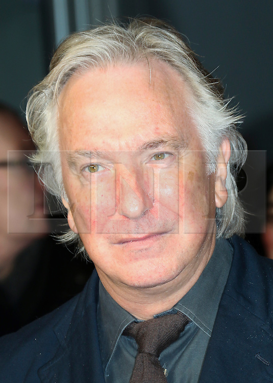 © London News Pictures. Alan Rickman, The Invisible Woman - UK film premiere, Odeon Kensington High Street, London UK, 27 January 2014. Photo credit: Richard Goldschmidt/LNP