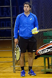 during practice session before Davis Cup between National team of Slovenia and JAR on September 9, 2013 in Sports center Dolgi most, Ljubljana, Slovenia. (Photo By Urban Urbanc / Sportida)