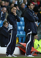 Photo: Paul Thomas.<br /> Leeds United v Southampton. Coca Cola Championship. 18/11/2006.<br /> <br /> Dennis Wise (L), Leeds manager.