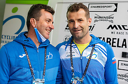 Ales Kalan and Andrej Hauptman, head coach of Team Slovenia after the Men Elite Road Race at UCI Road World Championship 2020, on September 27, 2020 in Imola, Italy. Photo by Vid Ponikvar / Sportida