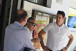 Miran Krasevec, Ivan Gorjup and Gregor Krusic during final of Drzavno prvenstvo v tenisu za clane in clanice, on June 27th, 2019 in Maribor, Slovenia. Photo by Milos Vujinovic / Sportida