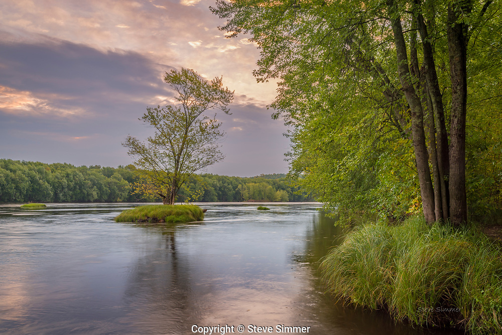 On the St. Croix River at Wild River State Park.  High water covers the sand beaches as it utilizes the full channel from bank to bank.