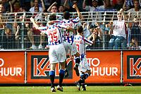 Fotball<br /> Nederland<br /> Foto: ProShots/Digitalsport<br /> NORWAY ONLY<br /> <br /> fc volendam - sc heerenveen, 31-08-2008 eredivisie seizoen 2008-2009, gerald sibon tilt tarik elyounoussi na zijn treffer (1-2) op