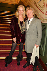 ROD STEWART and PENNY LANCASTER at the opening night of Amaluna by Cirque Du Soleil at The Royal Albert Hall, London on 19th January 2016.