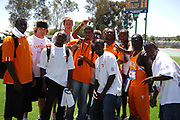The Tennessee men pose after finishing fourth in the NCAA Track & Field Championships at Sacramento State's Hornet Stadium in Sacramento, Calif. on Saturday, June 9, 2007.