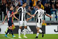 Esultanza Gol Sami Khedira, Paulo Dybala Juventus Goal celebration <br /> Torino 23-04-2017, Juventus Stadium, Football Calcio 2016/2017 Serie A, Juventus - Genoa, Foto Filippo Alfero/Insidefoto