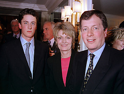 Left to right, the HON.RORY AITKEN and his parents LORD & LADY BEAVERBROOK<br />  at a fashion show in London on 17th April 2000.OCY 41