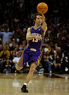 MORNING JOURNAL/DAVID RICHARD.Steve Nash of Cleveland makes a no-look pass against the Cavaliers.