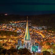 www.aziznasutiphotography.com                                         Northern lights over Trondheim from festningen.