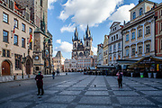 An almost empty Old Town Square. On March 1st, 2021 the state of emergency in the Czech Republic was reinstalled because of fast increasing numbers in infections. The lockdown was reinstated and the restriction of the free movement of people has taken effect. Currently, the country remains at the highest stage of the anti-epidemiological system and the newly imposed restriction will last at least three weeks to curb the epidemic.