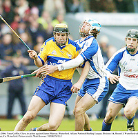 12 March 2006; Tony Griffin, Clare, in action against James Murray, Waterford. Allianz National Hurling League, Division 1A, Round 3, Waterford v Clare, Fraher Field, Dungarvan, Co. Waterford. Picture credit: Matt Browne / SPORTSFILE