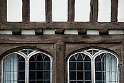 """Thaxted north west Essex England: possibly the most colourful town in the country. July 2017<br /> <br /> Sir John Betjeman, poet laureate  wrote """"There is no town in north Essex – and very few in England – to equal in beauty, compactness and juxtaposition of medieval and Georgian architecture, than the town of Thaxted"""".<br /> <br /> Thaxted is possibly the most colourful town in England, nearly every house or business premises, some with heavy pargeting ( where walls covered with lime motar are heavilly decorated ) many dating back hundreds of years is painted in a different colour, some in subtle colours respecting the ancient history of the town and some in robust more modern colours reflecting the new arrivals.<br /> <br /> The English composer Gustav Holst wrote part of the 'The Planets' while living in Thaxted from 1917 onwards. """"Thaxted"""" is a hymn tune by  Gustav Holst, based on the stately theme from the middle section of the Jupiter movement of his orchestral suite The Planets and named after Thaxted, the English village where he resided much of his life. He adapted the theme in 1921 to fit the patriotic poem """"I Vow to Thee, My Country"""" by Cecil Spring Rice. It did not appear as a hymn-tune called """"Thaxted"""" until his friend Ralph Vaughan Williams included it in Songs of Praise in 1926."""