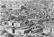 0303-05 Upper left is the Pension bureau, now the National Building Museum, at 14th & F., Washington DC, 1920s