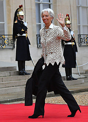 Director of the International Monetary Fund (IMF) Christine Lagarde waves as she arrives at the Elysee Palace in Paris, France, on November 11, 2018, ahead of the start of commemorations marking the 100th anniversary of the 11 November 1918 armistice, ending World War I. Photo by Christian Liewig/ABACAPRESS.COM