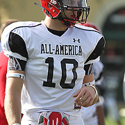 Ben Koyack during the practice session at the Walt Disney Wide World of Sports Complex in preparation for the Under Armour All-America high school football game on December 3, 2011 in Lake Buena Vista, Florida. (AP Photo/Alex Menendez)