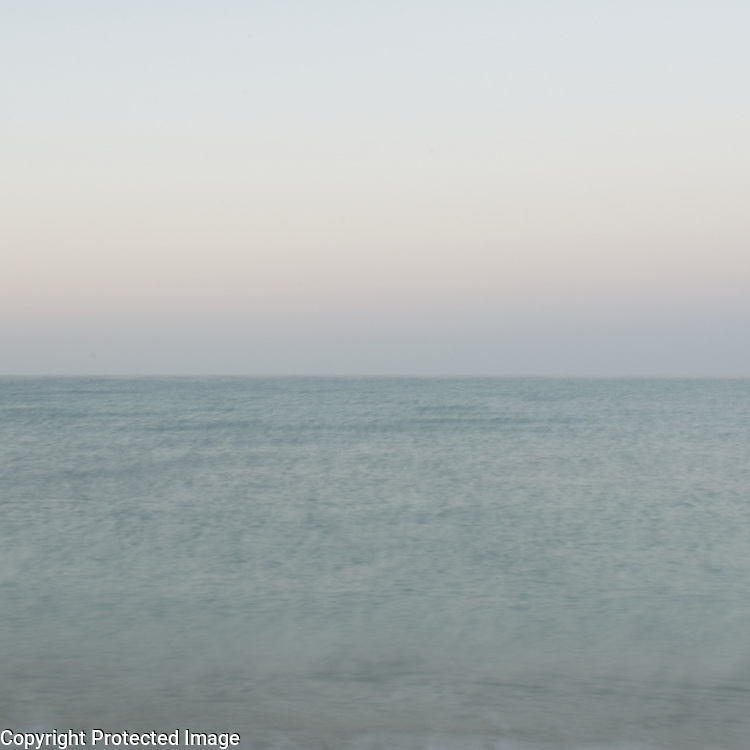 I used a long exposure in the pre-dawn to soften the already gentle motion of the sea.