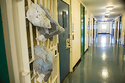 Bags of clean laundryBeaufort House, a skill development unit for enhanced prisoners. Part of HMP/YOI Portland, a resettlement prison with a capacity for 530 prisoners.Dorset, United Kingdom.
