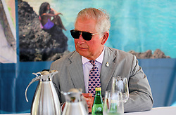 The Prince of Wales joins a Blue Economy Roundtable meeting at the Spice Island Beach Resort during a one day visit to the Caribbean island of Grenada.