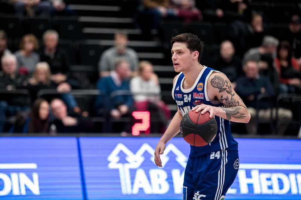 ÖSTERSUND 20200127<br /> Jämtlands Marshall Nelson under måndagens match i basketligan mellan Jämtland Basket och Köping Stars i Östersunds Sporthall.<br /> <br /> Foto: Per Danielsson/Projekt.P