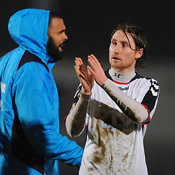 TELFORD COPYRIGHT MIKE SHERIDAN 5/3/2019 - James McQuilkin of AFC Telford during the National League North fixture between AFC Telford United and Darlington at the New Bucks Head Stadium